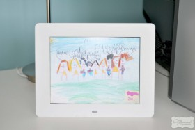 kids artwork as photo frame